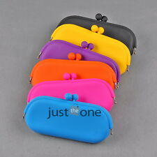 Candy Color Silicone Glasses Case Cosmetics Pouch Cellphone Bag Coin Purse Cases