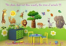 JUNGLE ANIMALS-SAFARI,Zoo,Africa100x30CM Nursery Children Bedroom Wall Stickers