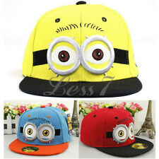Lovely Despicable Me Minions Figures Children Kids Snapback Baseball Cap Hat Toy