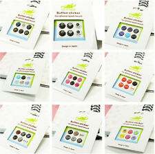 1 set Logo Home Button Sticker Case Cover For iPhone 3 4 5G 5S 6 ipod iTouch