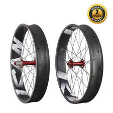 ICAN Fat Bike Carbon Wheels Clincher Tubeless Ready 26er 135mm Front 170mm Rear