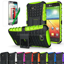 Rugged Armor Impact Hard Hybrid Case Kickstand Cover Skin For LG Ultimate 2 L41C