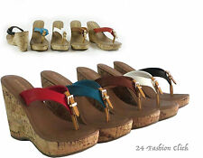 New Women Flip Flops Platform Thong Sandals  Wedge Heel Shoes 5 colors