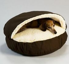 Cozy Cave Pet Dog Puppy Cat Bed Bedding Soft Warm Coffee Grey Washable XLarge