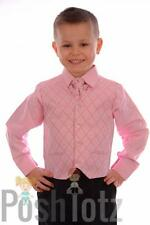 Boys 4 piece Pink & Black Formal Suit Wedding Pageboy suits (0-3mths - 15yrs)
