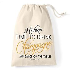 Personalised hen night do party thank you gift bag, Drink champagne and dance.