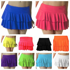NEW LADIES GIRLS FRILL MINI SHORT RARA SKIRT DANCE PARTY TUTU CLUB WEAR SIZE8-14