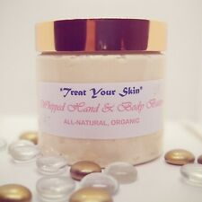 NATURAL, ORGANIC WHIPPED SHEA HAND/BODY BUTTER W/ VITAMIN E. PICK SIZE & SCENT