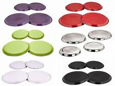 4 PC STAINLESS STEEL HOB COVER PROTECTOR COLOURED METAL RING ELECTRIC COOKER