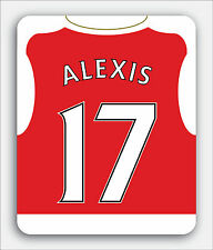 ARSENAL FOOTBALL themed MOUSEMAT - Personalised mouse mat pad 15/16 shirt style