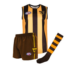 Official AFL Footy Hawthorn Hawks Kids Auskick Jumper Guernsey Shorts Socks Pack