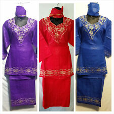 African Women Clothing Attire outfit  Skirt Suit Dashiki Set S# D 60 Free Size