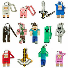 "Minecraft HANGERS 3"" FIGURES - CHOOSE YOUR HANGER KEYRING BAG CLIPON....."