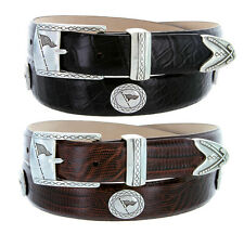 "Tournament Golf - Classic Italian Calfskin Leather Dress Belt 1-1/8"" Wide"