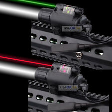 New CREE Led Laser Flashlight Combo Torch Sight Scope Tactical W/Pressure Switch