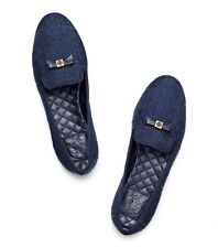 Tory Burch Shoes Chandra Loafers Flats Slipper Navy Combo