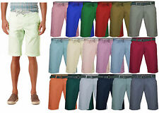 Mens Chino Shorts Bottoms Knee Length Straight Pants Cotton Casual Summer New