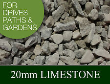 Dove Grey LIMESTONE CHIPPINGS 20mm - Driveway & Path Gravel - 1 & 2 Ton Loads