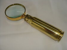 MAGNIFYING GLASS MULTIPLE CALIBERS HANDCRAFTED BRASS RIFLE CASINGS