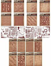 CRAFTERS COMPANION TEXTURES 5x7 EMBOSSING FOLDERS & A6 STAMP SETS - NEW 2015