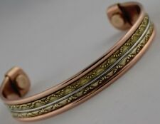 Men Women Copper Bracelet Cuff Bangle with Magnets  -  Therapy Arthritis Healing