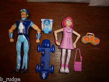 Lazytown Sportacus or Stephanie talking star jump figure toys with accessories