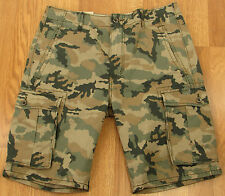 Levis Cargo Shorts Mens Camouflage 100% Cotton Below Knee Relaxed NEW (4009)