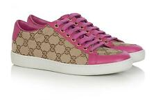GUCCI SCARPE DONNA SNEAKERS BEIGE VIOLA 338883 MADE IN ITALY