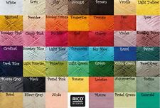 RICO DESIGN CREATIVE COTTON ARAN KNITTING WOOL/YARN - 50g - 37 COLOURS