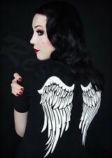 Restyle Clothing Ladies Angel Wings T Shirt Tee Gothic Emo Tops Shirts