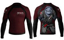 Raven Fightwear Shark Attack Long Sleeve Rashguard MMA BJJ
