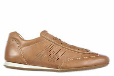 HOGAN SCARPE SNEAKERS DONNA IN PELLE NUOVE OLYMPIA H BUCATA MARRONE SHOES TR 524