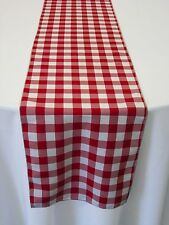 "15 Checkered Table Runners 12""x108"" Gingham Buffalo Check Polyester Runner"