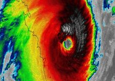 cyclone MARCIA  qld DIGITAL ART  storm canvas satin print photo painting