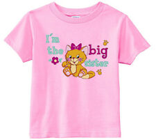 Lil Shirts Little Girls I'm The Big Sister Toddler Graphics Tee