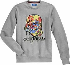 %ADIDAS STAR WARS STORMTROOPER CAMO GREY SWEAT SHIRT M L XL