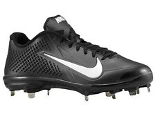 Mens NIKE Zoom VAPOR ELITE Metal Low Baseball Cleats Black White SIZE 13