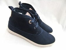 NEW LEVIS  NAVY BLUE SUEDE LACE UP BOOTS BNIB