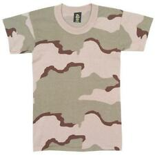 Tri-Color Camouflage USA Made Kids Short Sleeve T-Shirt - Boys, Girls, Youth's