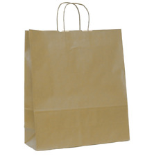 CF.25 SHOPPER CARTA AVANA CON MANICO IN CARTA RITORTO 5 MISURE DISPONIBILI