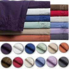 NEW 1800 COUNT DEEP POCKET 4 PIECE BED SHEET SET QUEEN SIZE CHOOSE YOUR COLOR