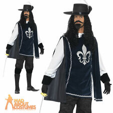 Adult Musketeer Costume Mens Medieval Fancy Dress Outfit New