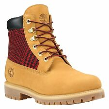 """Timberland Men's 6"""" Wheat Red Plaid Waterproof Boots Style #6620A"""