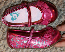 New! Girls Stride Rite Shoes (Sparkle-ly Pink Flats, Walkers Sole) - Size 5, 7 M