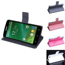 """Brand New Folio Leather Case Stand Cover Skin For 5"""" Philips I908 Smartphone"""