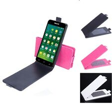 """Magnetic Fashion Flip Leather Case Cover Skin For 5"""" Philips I908 Smartphone"""