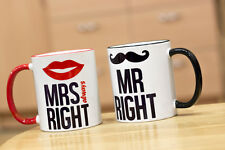 Mr right and Mr's always right   2X  mug's/cup's coffee/tea  suitable for couple