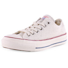 Converse All Star Sparkle Lurex Ox Womens Natural Trainers New Shoes All Sizes