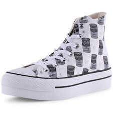 Converse Platform Warhol Hi Womens Black White Trainers New Shoes All Sizes