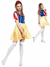 Snow White Adult Fancy Dress with Headband Complete Outfit